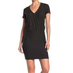 James Perse Short Sleeve V Neck Blouson Dress 1
